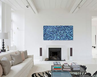Abstract Painting - Acrylic on Wood Panel 120X60