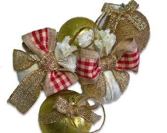 Rustic Christmas Ornament 5 pieces
