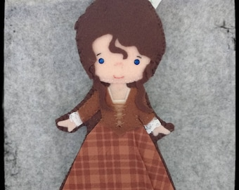 Key chain or bookmark Claire Beauchamp  from Outlander.