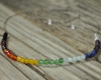 7 Chakra Necklace, Chakra Jewelry, Healing Crystal Jewelry, Chakra Stones, Chakra Crystal Necklace, Healing Crystal Necklace, Healing Stones