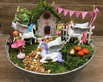 Fairy Garden Unicorn, Pegasus, Fairy Garden kit add on, garden miniature, fairy garden accessories