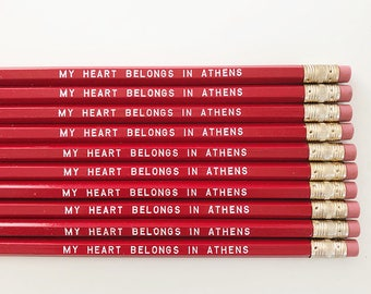 My Heart Belongs in Athens Pencils