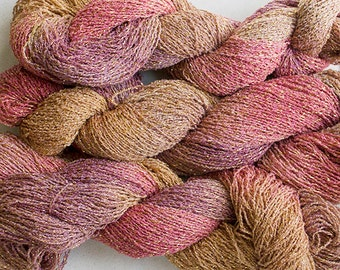 Sparkle,  fine cotton/metallic yarn, 300 yds - Sandstone