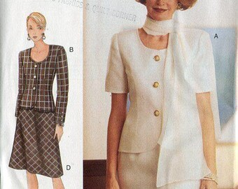 FREE US SHIP Vogue 9242 Woman Top Skirt 1995 Size 6 8 10, 12 14 16 Bust 30 31 32 34 36 38 Uncut Retro 1990s Sewing Pattern