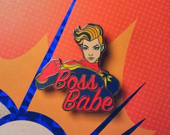 Boss Babe Captain Marvel | Marvel Comics Hard Enamel Pin