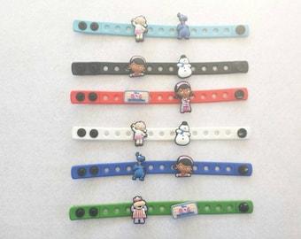 10 Doc McStuffins Silicone Bracelets Party Favors