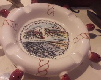 Vintage Wildwood New Jersey Ashtry/ The Wildwoods by the Sea N.J Ashtray / Captains  Wheel Ashtray/ Nautical Ashtray/ tourist Ashtray