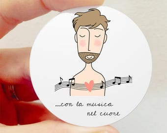 """Brooch """"with music in the Heart"""""""