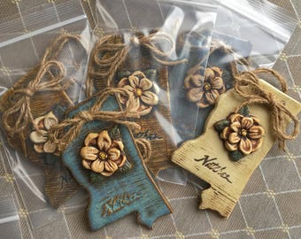 Hand made Mississippi ornaments