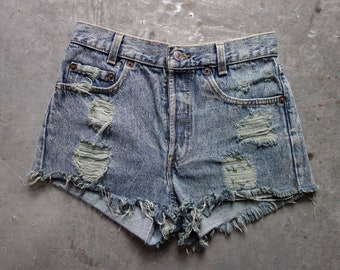 Levis cutoff shorts size 27-classic four button fly, made in USA