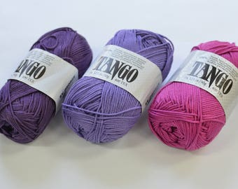 100% Mercerized Cotton yarn TANGO 50gr 125m Cotton Yarn knitting Crochet thread Сhoice of color Many Colors Natural Yarn