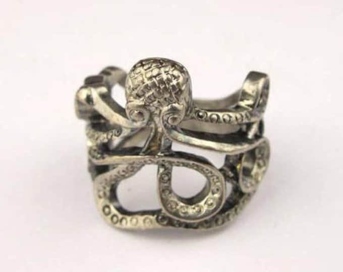 Cthulhu Ring - cthulhu ring octopus H.P.Lovecraft horror creepy gothic freak