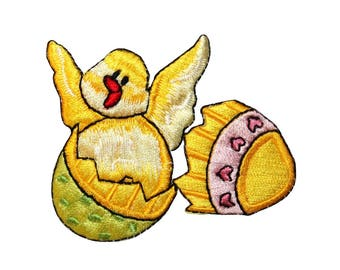 26644192a939 ID  3324 Easter Egg Chicklet Baby Chicken Animal Holiday Iron On Applique  Patch