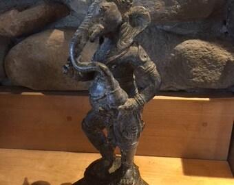 Amazing Bronze Antique Ganesh Elephant from SE Asia   Temple Buddha statue