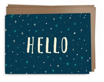 Hello - Stars Card Pack