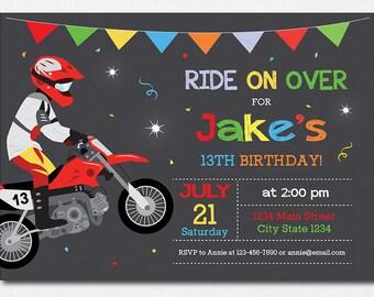Motocross invitation etsy motocross birthday invitation motocross invite motocross party motorbike invitation dirt bike invitation filmwisefo Gallery