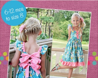 Skyler's Patchwork & Simple Skirt Twirl Dress PDF Pattern Sizes 6-12m to 8 girls