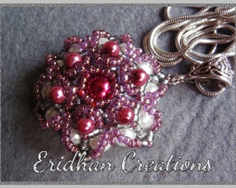 Beaded flower - tutorial