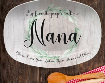 My Favorite People Personalized Platter   Mother's Day, Grandparent, Mom, Teacher, Coach, Aunt, Special Gift