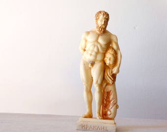 Hercules, Greek Statue, Hercules Sculpture, Hercules Statue, Greek Sculpture, Greek Statue, Ancient Greece Decor, Hercules Figurine, Statue