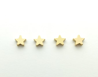4 pcs Star Charm Jewelry Beading supplies, Craft Supplies Tools, Beads Celestial Beads 4PFS-G