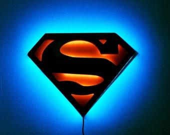 Wonderful Superman Lamp Night Lights/ LED Superman Logo/ Superhero Lamp/ Wall  Art/Justice