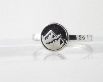 Mountain Ring, sterling silver ring, women, ecofriendly