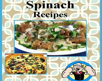 550 Spinach Recipes E-Book Cookbook Digital Download
