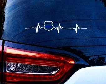 Police Heartbeat Decal