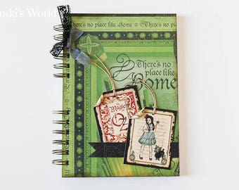 Decorated notebook The Wizard of Oz, scrapbooking notebook, personalized notebook, Wizard of Oz, Wizard of Oz, Oz