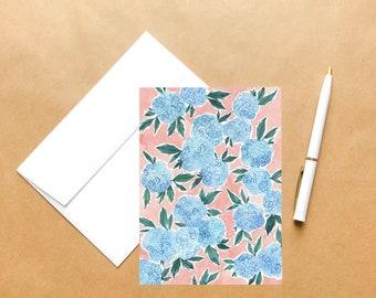 Hydrangeas | Springtime Greeting Card