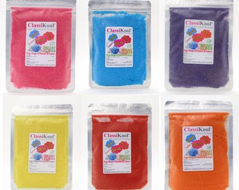 Classikool Instant Candy Floss Sugar Bargain Party Set: 4 Fruity Fun Flavours (Free UK Mainland Shipping)