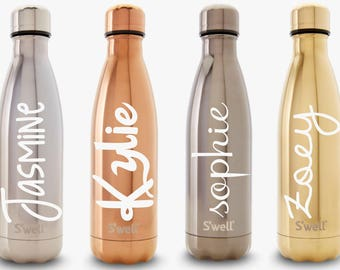 S'well Water Bottle with Personalized Custom Name or Monogram (Metallic, Galaxy, Spectrum, Glitter, and Gem Collections)