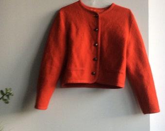 Vintage Cropped Wool Blazer