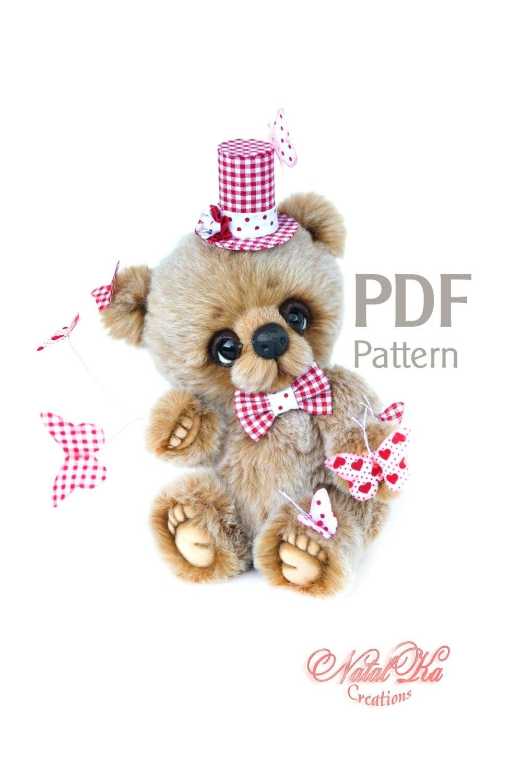 PDF Schnittmuster Teddy Bär Butterfly juggler 20 cm digitaler