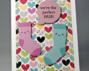 We're the Perfect Pair Punny Valentine's Day Card
