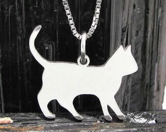 Cat Silhouette pendant, Cat Silhouette Pendant # 11