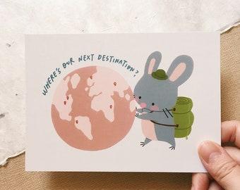 Next Destination - Squeaky Postcard