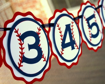 Baseball Photo Banner - First Birthday Photo Banner - 1st Birthday Baseball Party Banner - Baseball Party Decor - Baseball Decorations