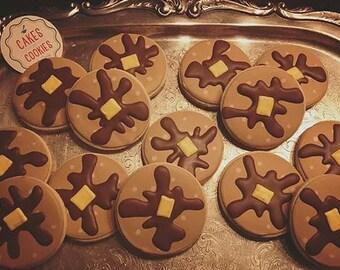Pancake Cookies - Decorated Sugar Cookies - 1 Dozen