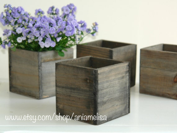 Wood Box Wood Wooden Boxes For Centerpieces Planter Flower