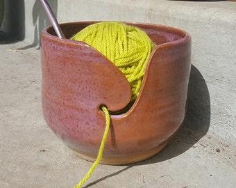 Reddish Purple Yarn Bowl