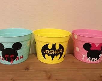 Batman personalized, customized Easter Basket