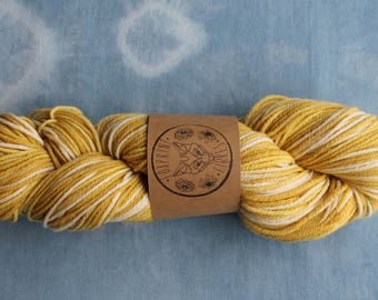 Merino Wool Worsted Weight Yarn Plant Dyed with Marigold