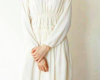 Simone Dress- bohemian romantic feminine semi-sheer dress with ruching and gathered detailing (wedding dress)