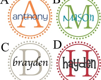 Monogram Name PERSONALIZED initial 22x22 Vinyl Wall Lettering Words Quotes Decals Art Custom