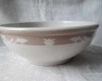 Vintage Syracuse China Cereal Bowl, Nutmeg Pattern