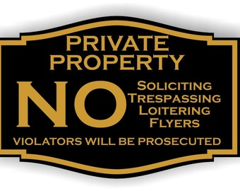 Custom laser Engraved No Trespassing Private Property sign  Sign