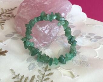Green Aventurine Bracelet infused with Reiki- Yoga Jewelry / Healing Bracelet