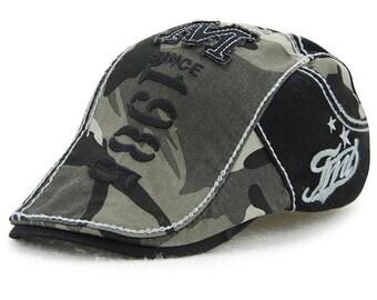 Camouflage beret cap visors hats for men and women sun hat gorras planas flat ca